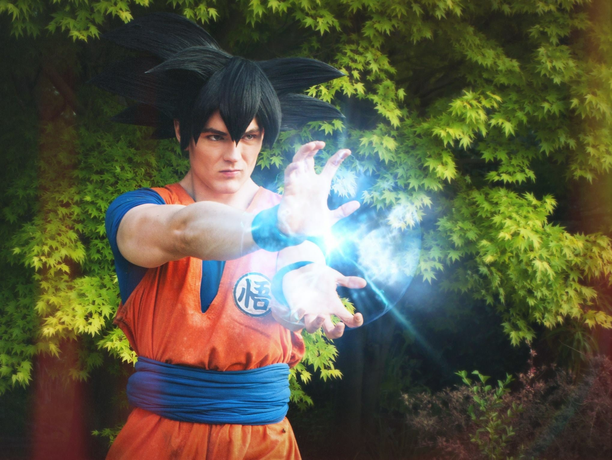 Goku cosplayer who used his admiration for the DragonBall character to overcome his eating disorder