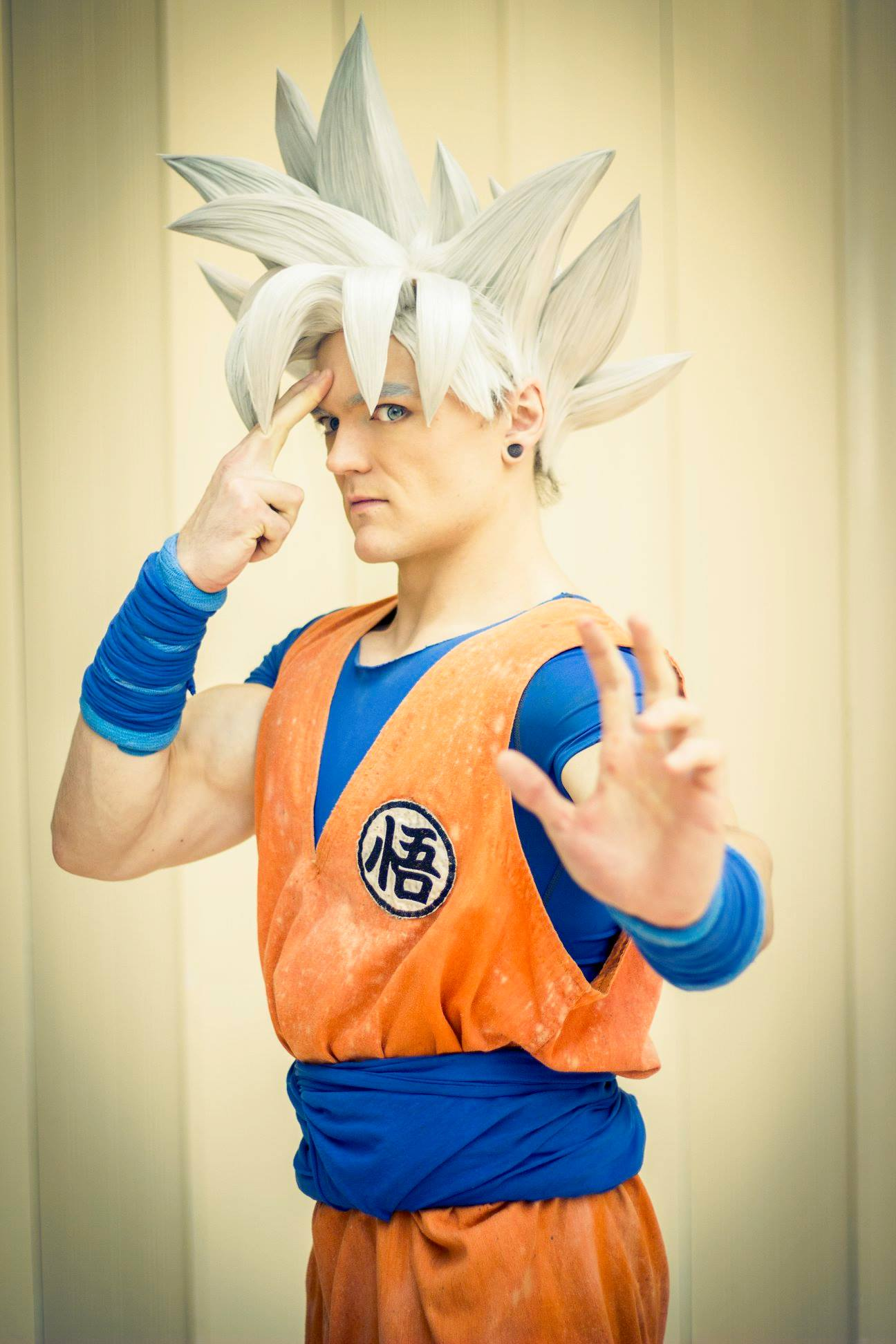 Mastered ultra instinct Goku cosplay from DragonBall Super