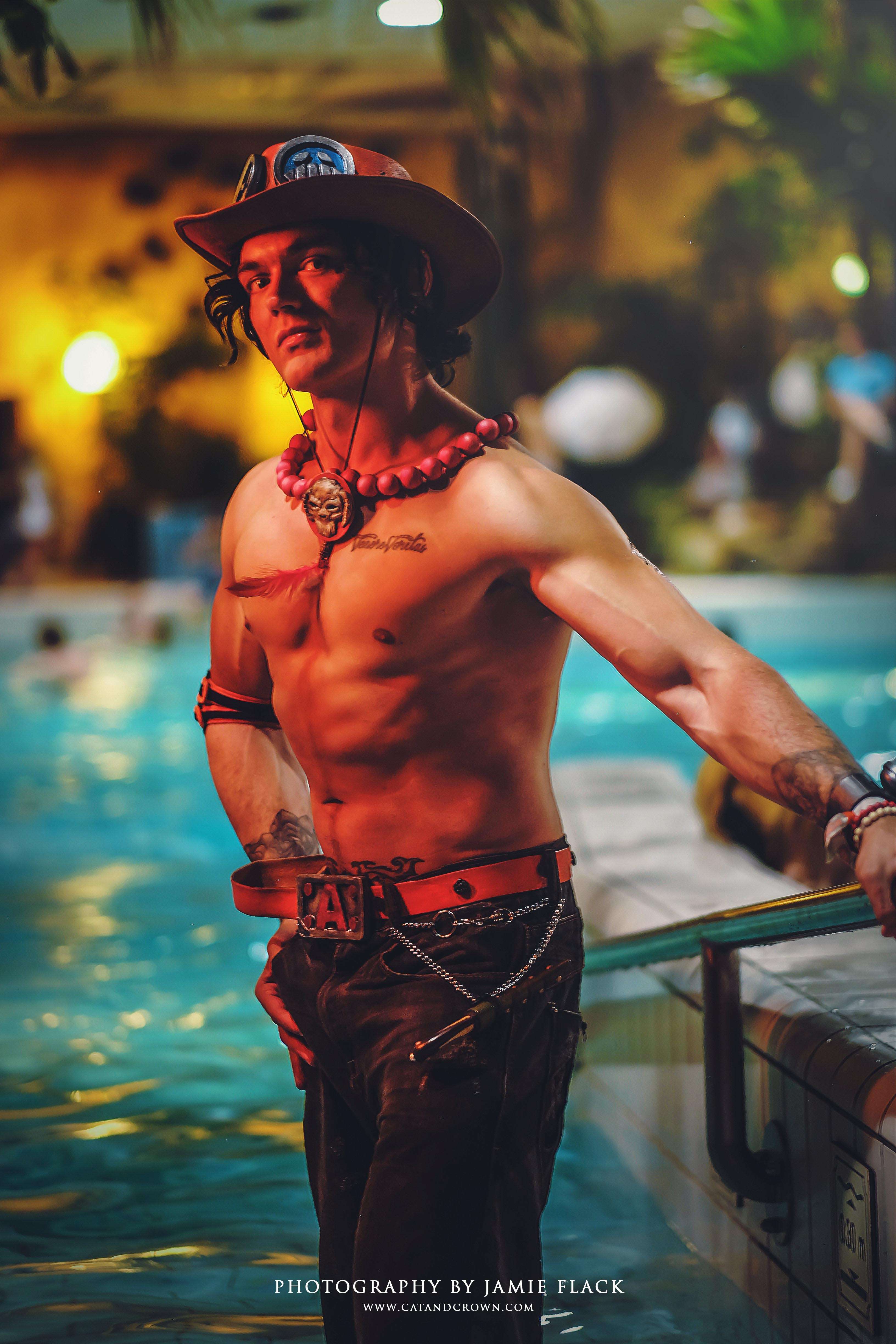 Firefist Ace cosplay from One Piece