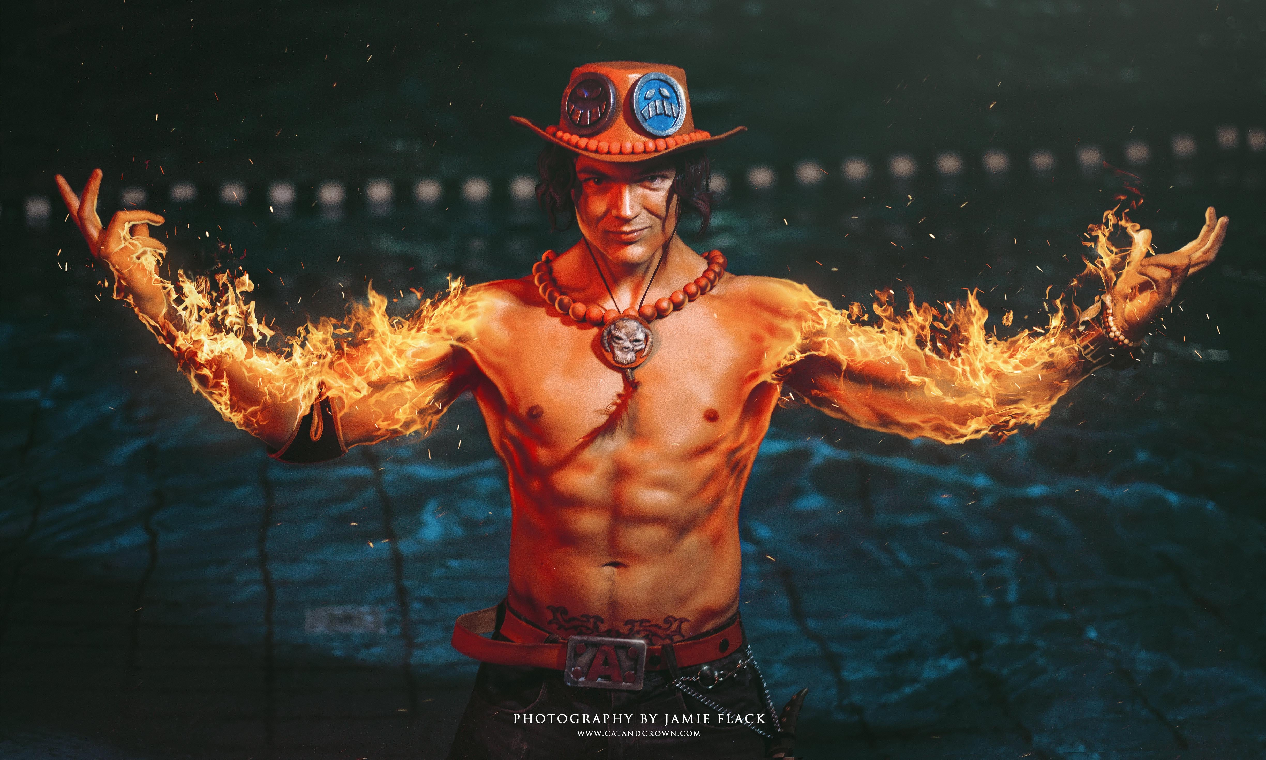 Firefist Ace Cosplay from the One Piece Anime