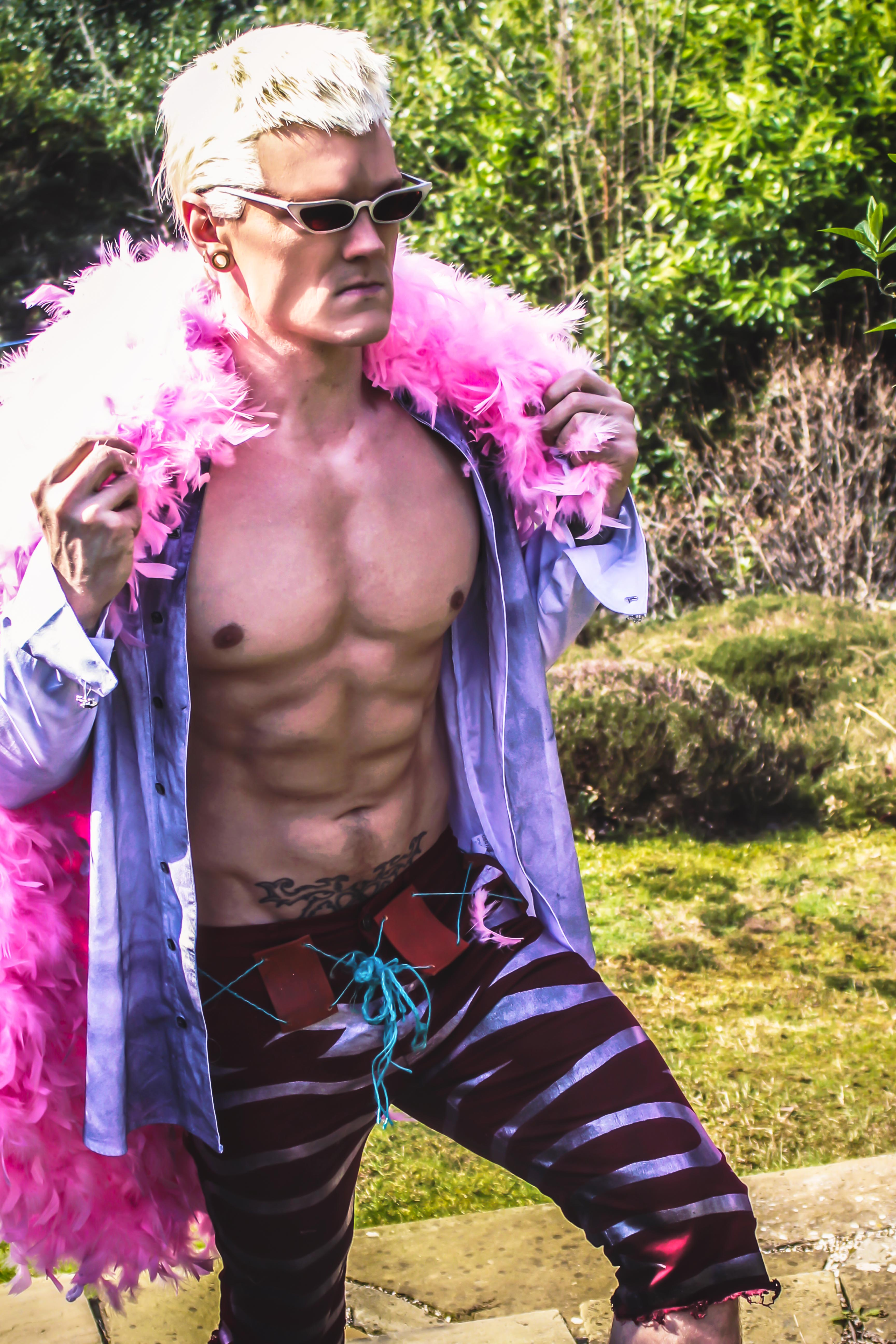 Doflamingo cosplay from One Piece - Anime Workouts and Mindset
