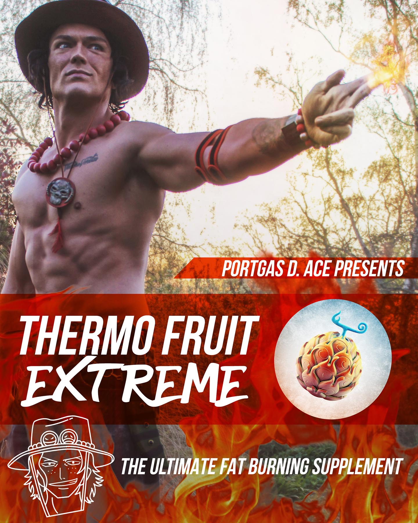 Firefist ace fat burning supplement from one piece using his devil fruit