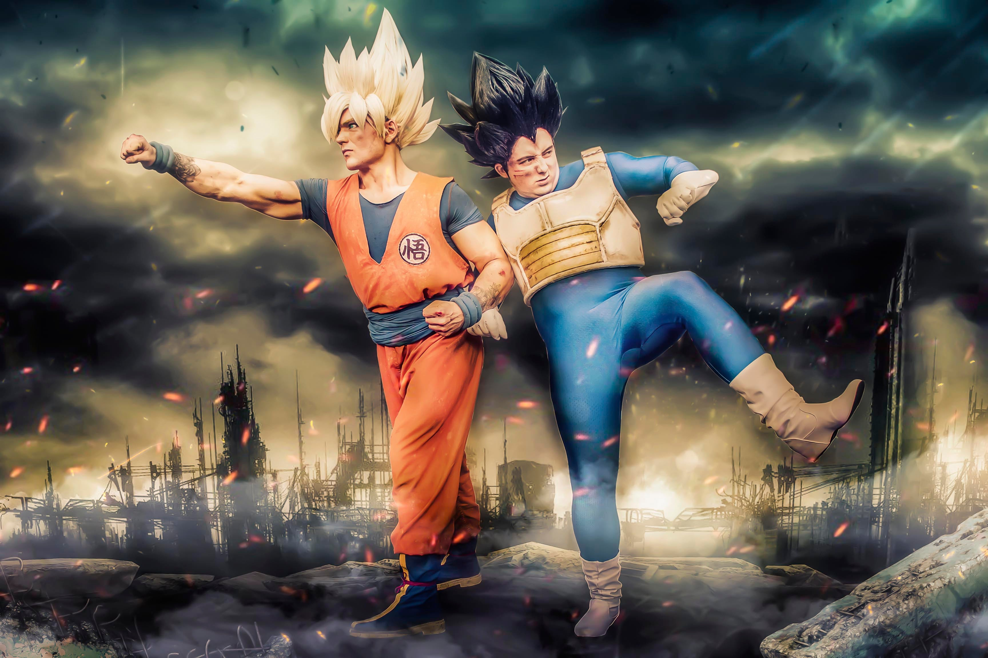 Goku and Vegeta cosplay from DragonBall Z