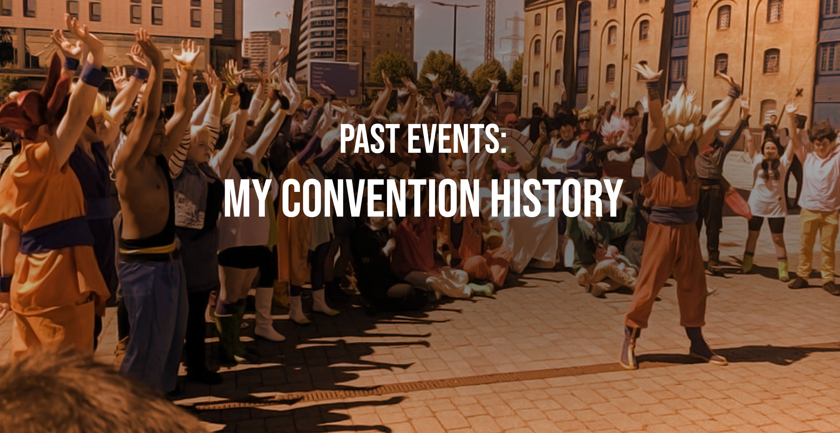 The convention history of Chris 'Cosplay' Minney of Be More Shonen