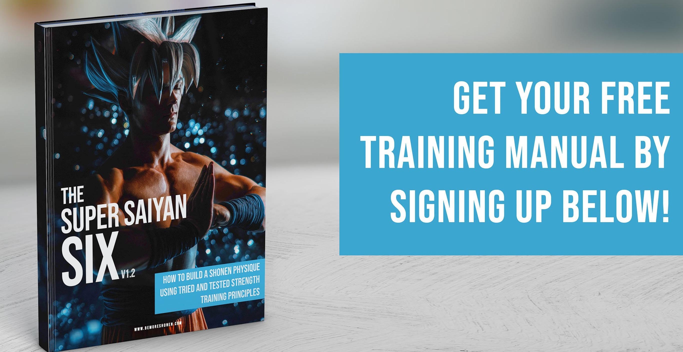 Super Saiyan Six weight training and diet fitness book for anime fans and cosplayers