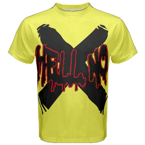 HELL NO Tee Shirt Ryuji Sakamoto Persona 5 Accurate P5 Cosplay Fitness T-Shirt Dancing Star Night