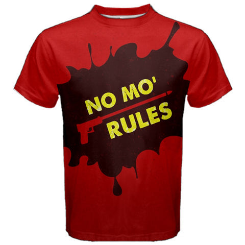 NO MO RULES No Mo' Rules No More Rules Tee Shirt Ryuji Sakamoto Persona 5 Accurate P5 Cosplay Fitness T-Shirt