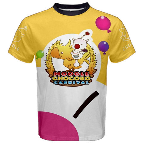 Final Fantasy FFXV Moogle Chocobo Carnival Replica Cosplay Tee. Final Fantasy 15 Noctis Gladiolus Cosplayer T-Shirt Chris Minney Cosplay Fitness Nomes Cosplay