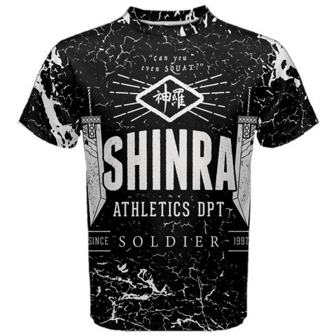 SHINRA ATHLETICS Tee/Vest - Final Fantasy VII Gamer Otaku Health Goth Geek Workout T-Shirt