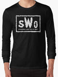 SHONEN WORLD ORDER long sleeve Tee - Anime Otaku Geek T-Shirt New World Order Nwo WWE WCW Wrestling Parody Shirt