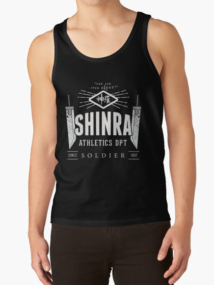 SHINRA Athletics for gamers that lift - Final Fantasy VII 7 Video Game Fitness Gym Workout Tank Vest