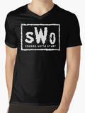 SHONEN WORLD ORDER V-Neck Tee - Anime Otaku Geek T-Shirt New World Order Nwo WWE WCW Wrestling Parody Shirt