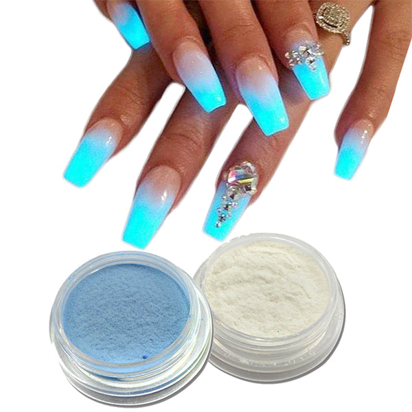 GLOW IN THE DARK NAILS POWDER