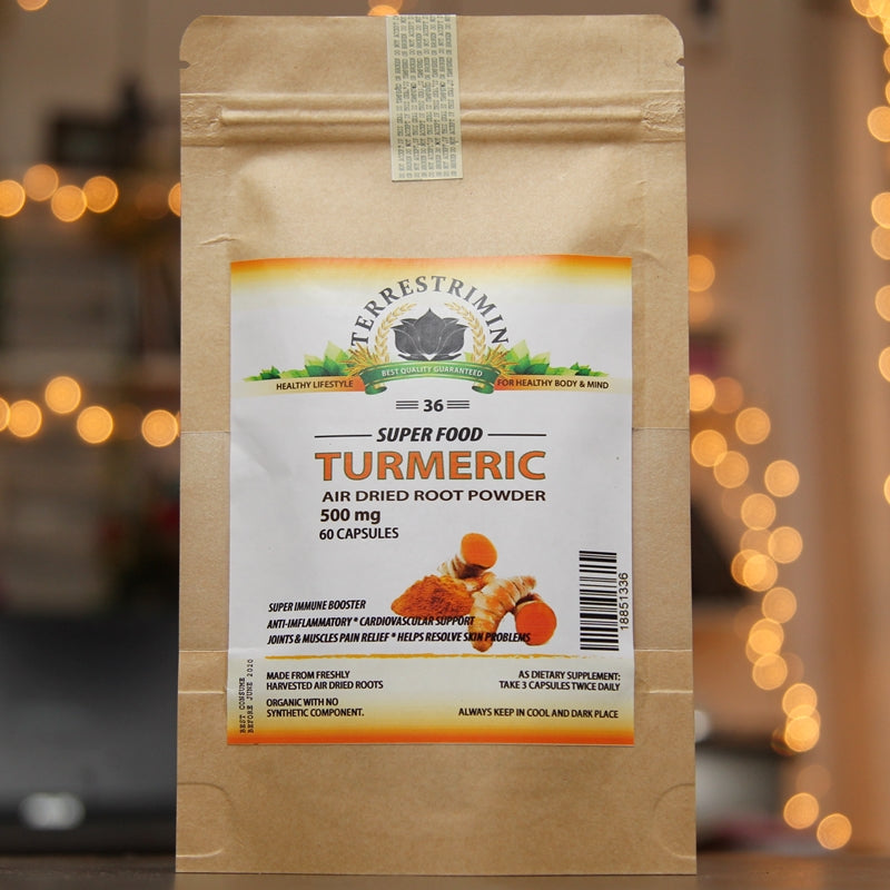 Buy 1 take 1) Terrestrimin Turmeric Super Food 120 Capsules