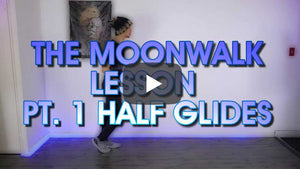 Moonwalk Beginner Lesson And Practice |  Pt. 1 Half Glides