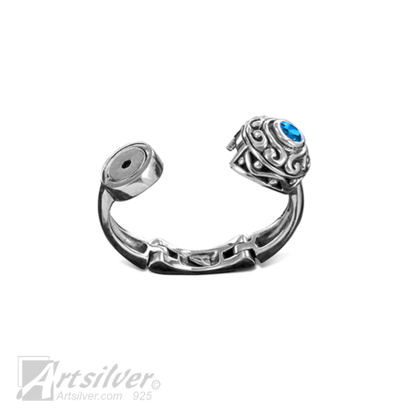 Filigree Orb Expandable Joint Ring