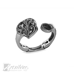 Heart Filigree Arthritis Expandable Joint Ring