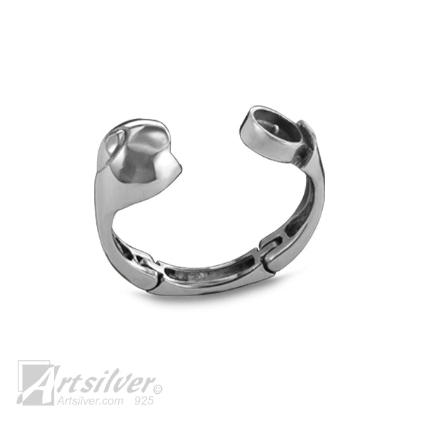 Spiral Expandable Hinge Ring