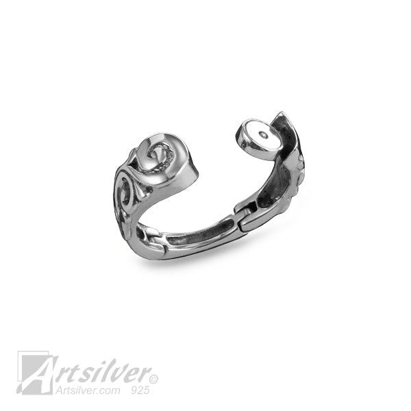 Hinged Scrollwork Spiral Ring