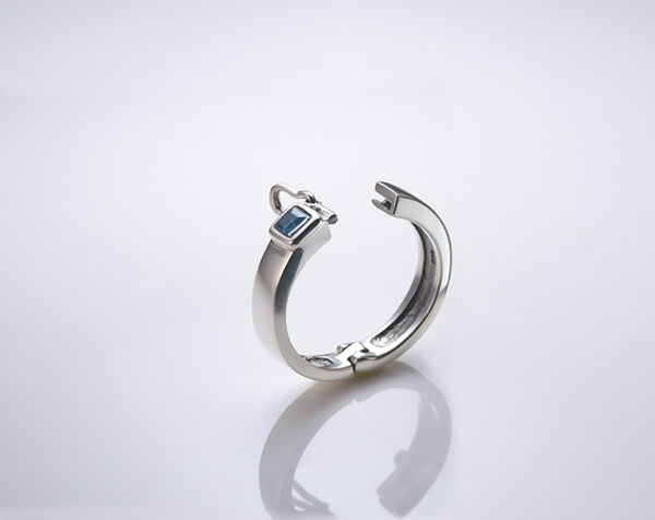 Sterling Silver Hinged to Open Arthritis Ring