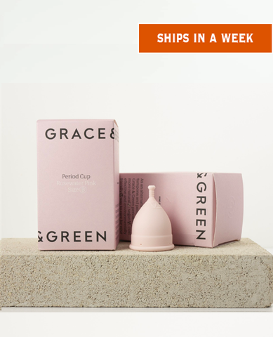 Period Cup - Size B (Rosewater Pink) by (Grace and Green)