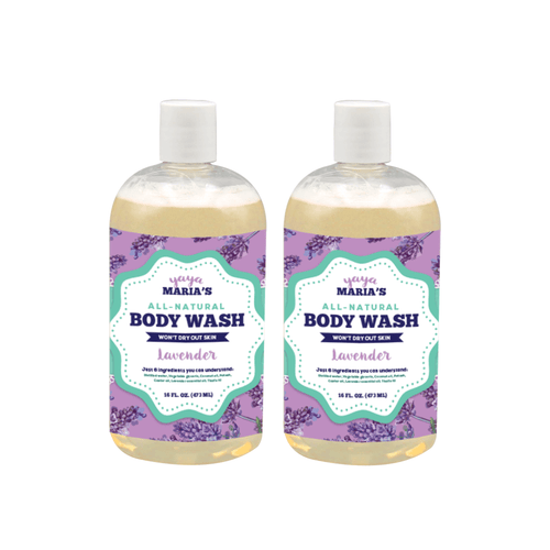Natural Body Wash 16 FL OZ (2-Pack) - Beautiful People Beauty Supply