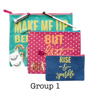 Cosmetic Bag Set | 3 Pieces - Beautiful People Beauty Supply