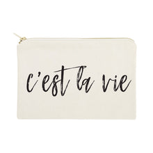 Load image into Gallery viewer, C'est La Vie Cotton Canvas Cosmetic Bag - Beautiful People Beauty Supply