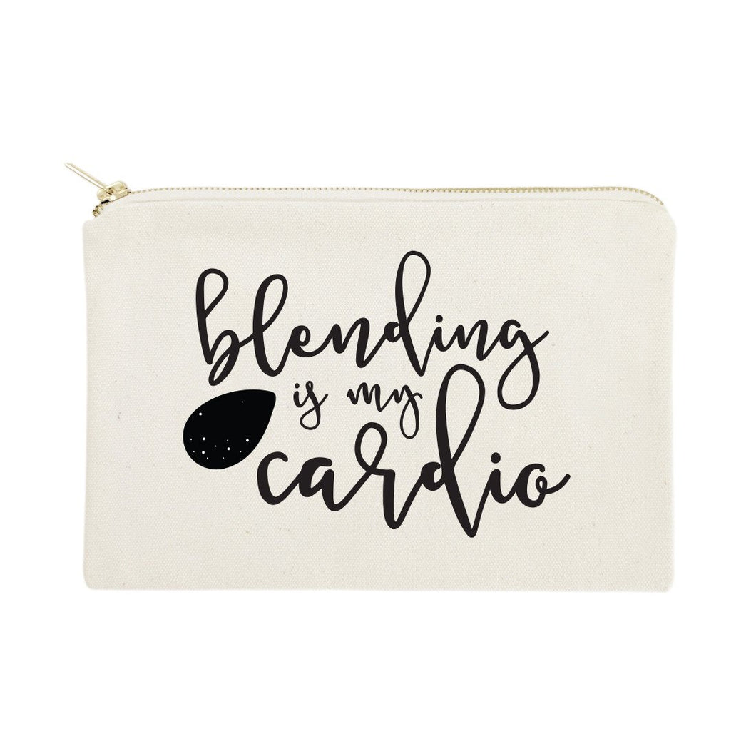 Blending is My Cardio Cotton Canvas Cosmetic Bag - Beautiful People Beauty Supply