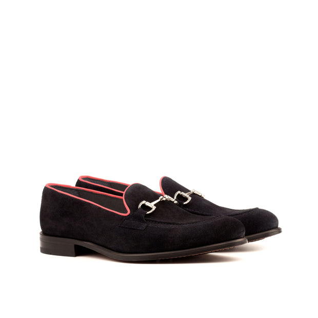Loafer-Painted Calf, Suede, Red, Blue 2