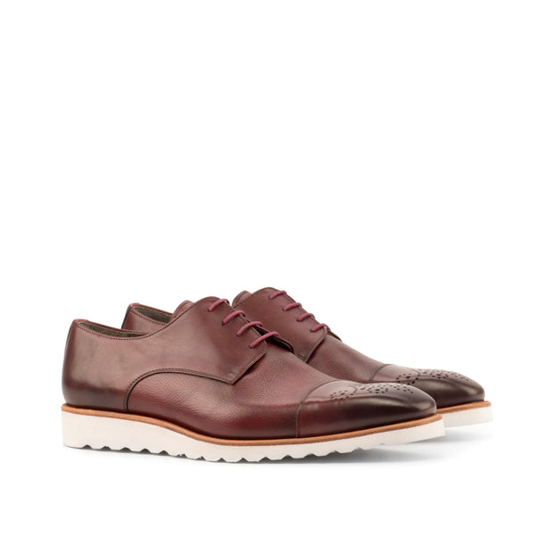 Derby-Painted Full Grain, Painted Calf, Burgundy 2