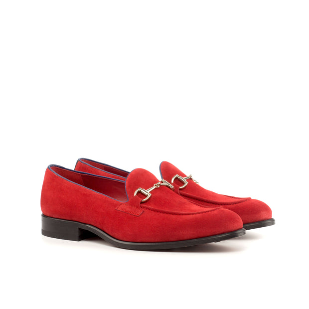 Loafer-Painted Calf, Suede, Blue, Red 2
