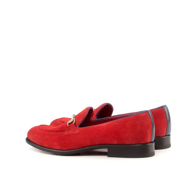Loafer-Painted Calf, Suede, Blue, Red 3