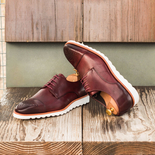 Derby-Painted Full Grain, Painted Calf, Burgundy 5