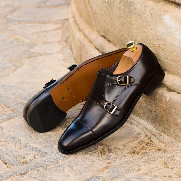 Double Monk-Box Calf, Black 5
