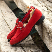 Loafer-Painted Calf, Suede, Blue, Red 5
