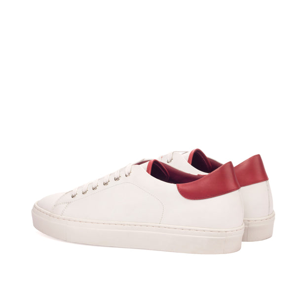 Trainer-Painted Calf, Box Calf, Red, White 3