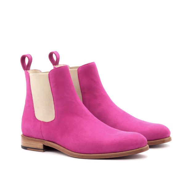 Ladies' Chelsea Boot-Kid Suede, Violet 2