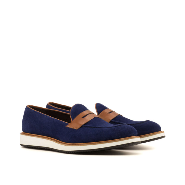 Loafer-Suede, Painted Calf, Blue, Brown 2