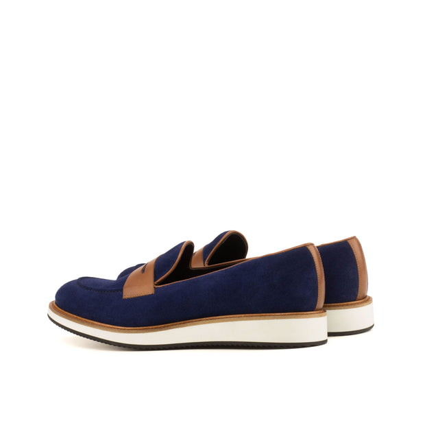 Loafer-Suede, Painted Calf, Blue, Brown 3