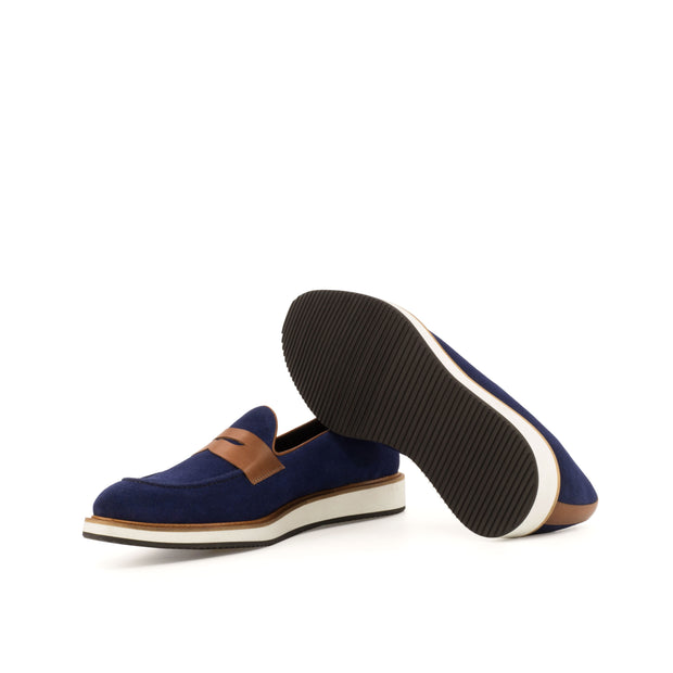 Loafer-Suede, Painted Calf, Blue, Brown 1--GIDE-2870-4005