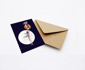 JUSTITIA'S CIRCUS MINI CARD WITH ENVELOPE