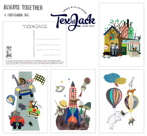 ALWAYS TOGETHER (4 POSTCARDS)
