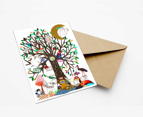 APPOCALYPTIC TREE POSTCARD WITH ENVELOPE