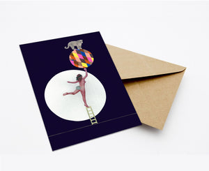 JUSTITIA'S CIRCUS (NEW COLOUR) POSTCARD WITH ENVELOPE