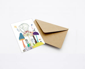 WORLD OF MUSHROOMS MINI CARD WITH ENVELOPE