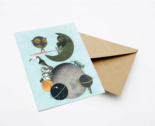 GALAXY YOU LATER POSTCARD WITH ENVELOPE