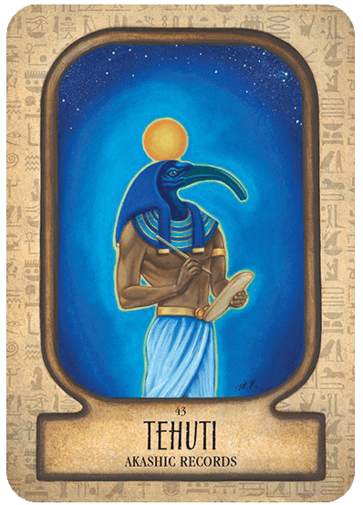 Auset Egyptian Oracle Cards Oracle Kit