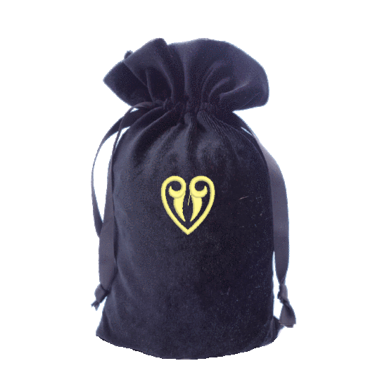 Tarot Bag with Gold Heart Bag