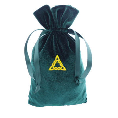 Tarot Bag with Gold Tri-knot Bag